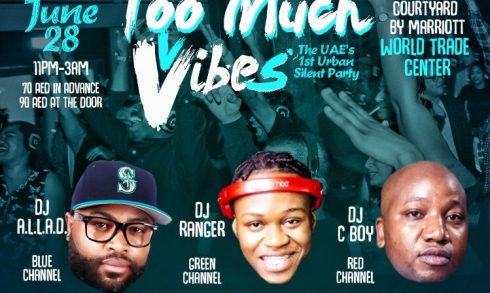 Too Much Vibes Silent Party - Coming Soon in UAE, comingsoon.ae