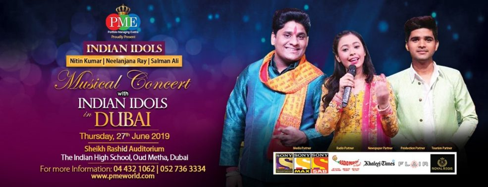 Indian Idols Concert - Coming Soon in UAE, comingsoon.ae