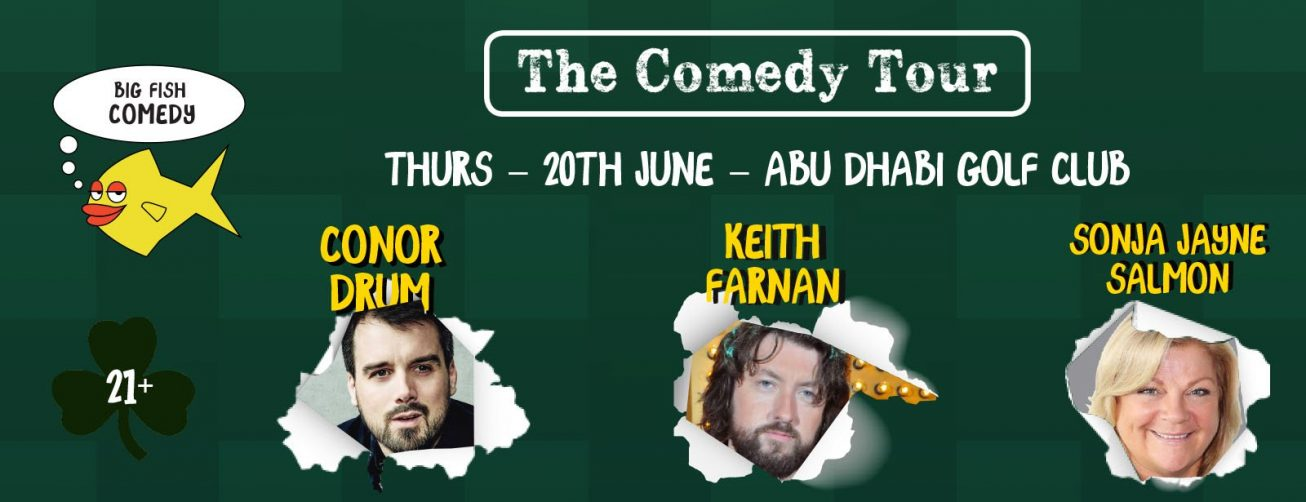 The Comedy Tour at the Abu Dhabi Golf Club - Coming Soon in UAE, comingsoon.ae