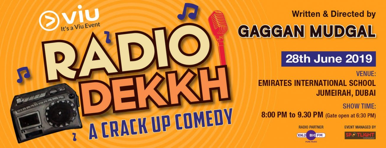 Radio Dekkh Comedy Show with Gaggan Mudgal - Coming Soon in UAE, comingsoon.ae