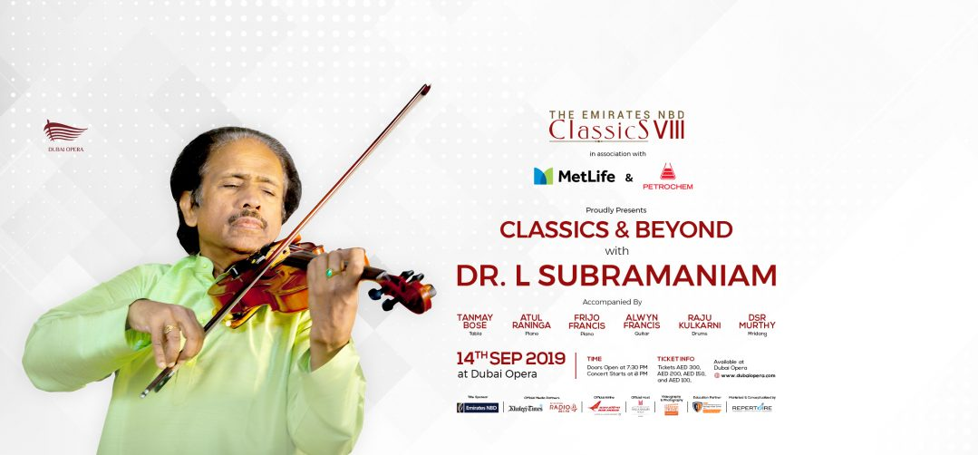 Dr. L Subramaniam Concert at Dubai Opera - Coming Soon in UAE, comingsoon.ae