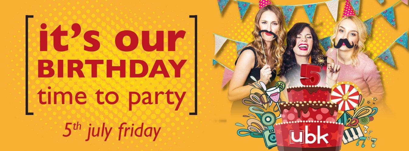 ubk – urban bar & kitchen Birthday Party - Coming Soon in UAE, comingsoon.ae