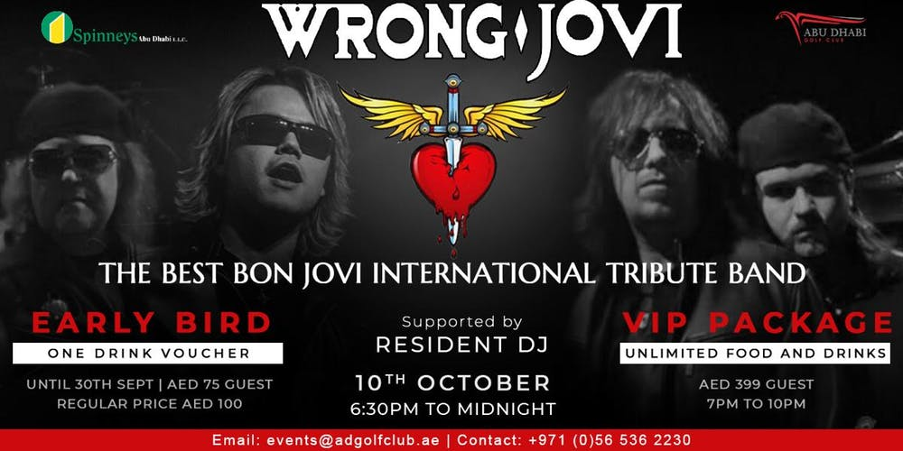 A Tribute to Bon Jovi by Wrong Jovi - Coming Soon in UAE, comingsoon.ae