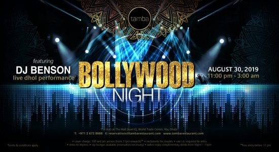 Tamba Restaurant – Bollywood Night - comingsoon.ae
