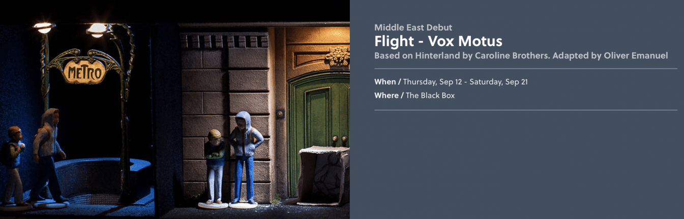 Flight by Vox Motus theatre - Coming Soon in UAE, comingsoon.ae