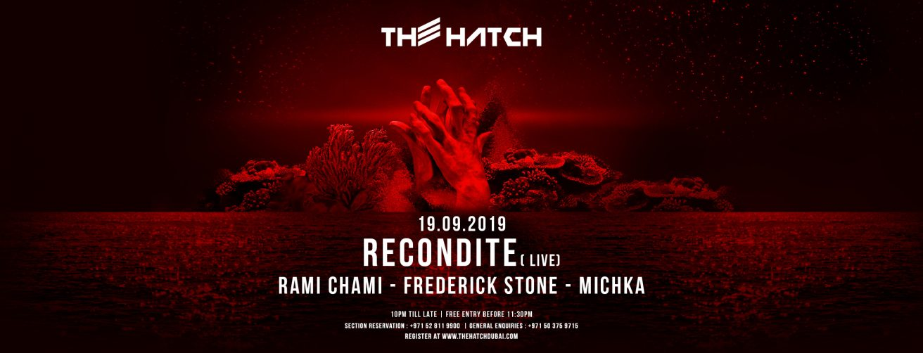 The Hatch with Recondite - Coming Soon in UAE, comingsoon.ae