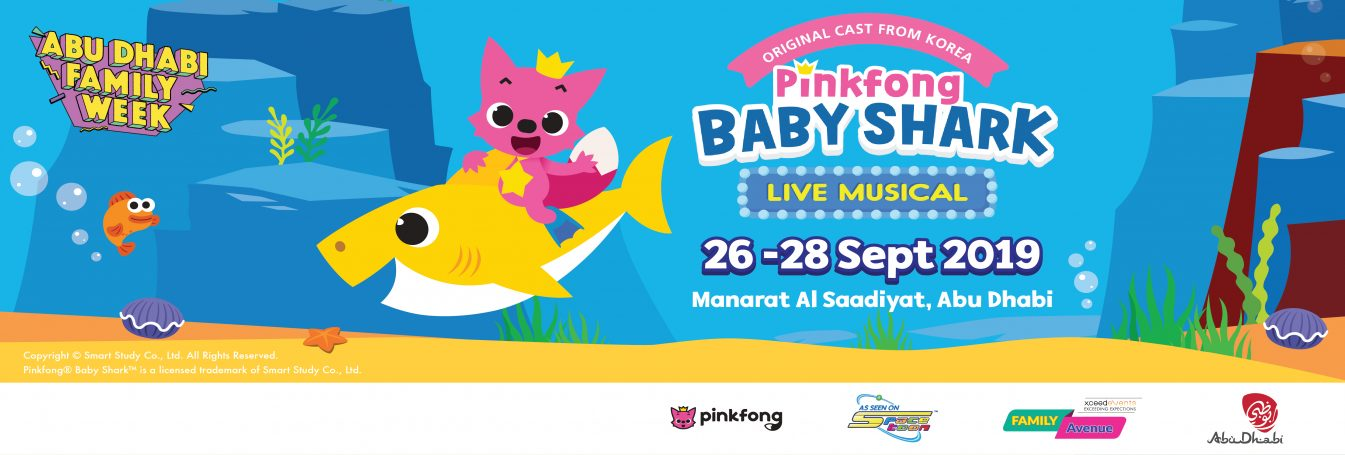 Abu Dhabi Family Week 2019: Pinkfong Baby Shark Live Musical - Coming Soon in UAE, comingsoon.ae