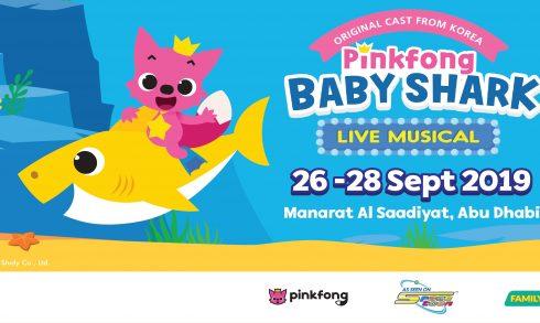 Abu Dhabi Family Week 2019: Pinkfong Baby Shark Live Musical - Coming Soon in UAE, comingsoon.ae