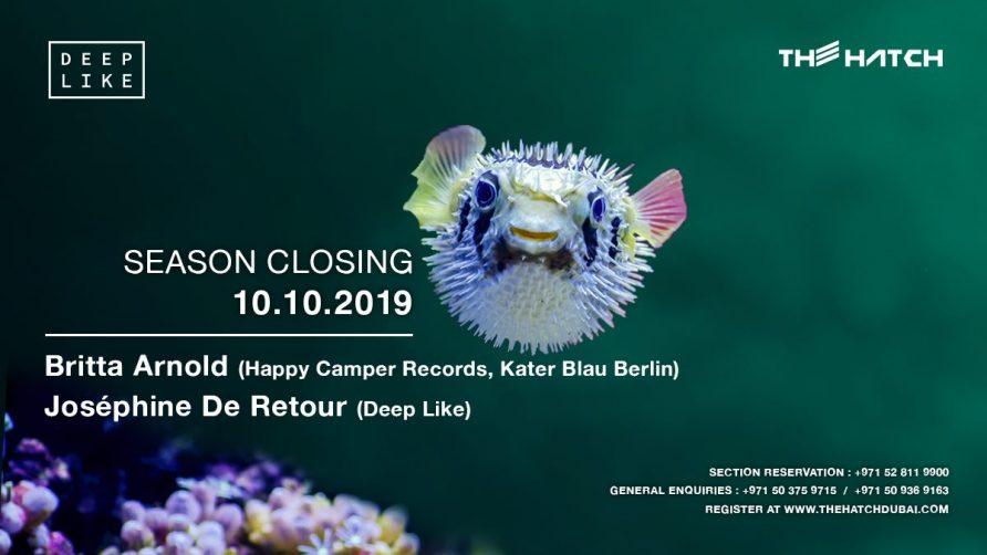Deep Like at The Hatch – Season Closing - Coming Soon in UAE, comingsoon.ae