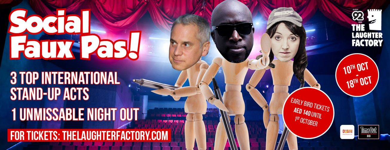 The Laughter Factory Social Faux Pas! Tour - Coming Soon in UAE, comingsoon.ae