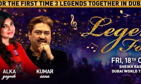 Legends Forever – Kumar Sanu, Alka Yagnik, Udit Narayan - Coming Soon in UAE, comingsoon.ae