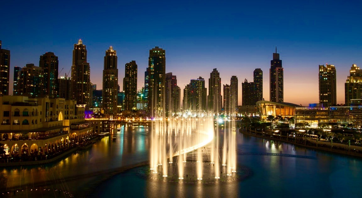 The Dubai Fountain is one of the largest musical fountain in the world