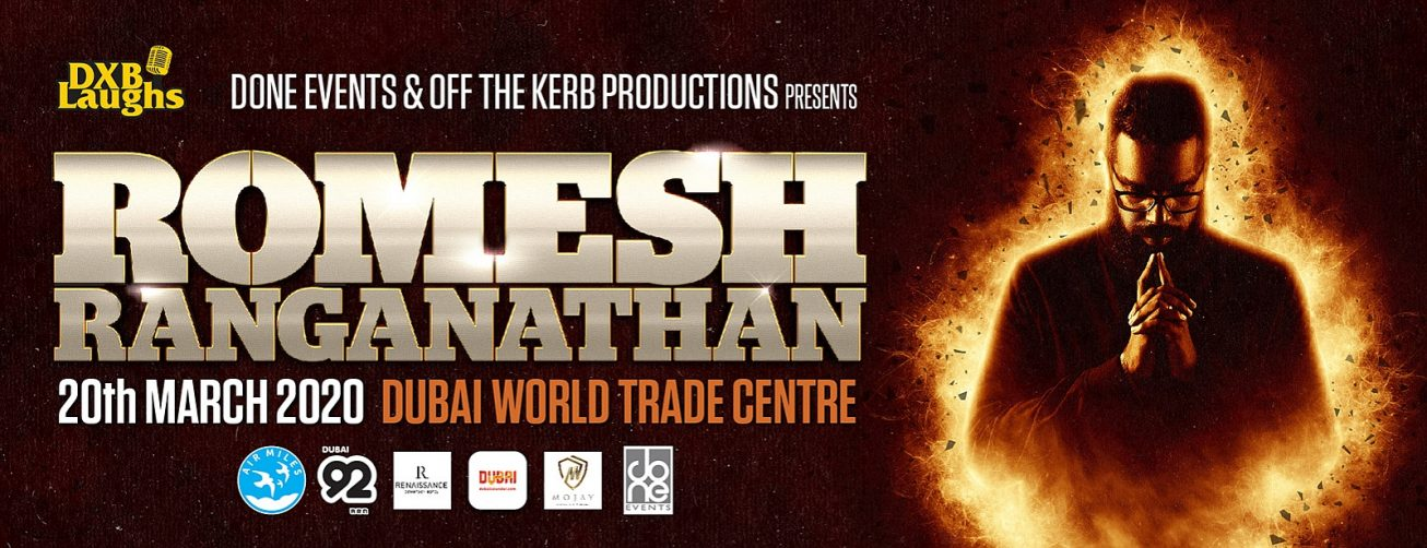 Romesh Ranganathan's show - Coming Soon in UAE
