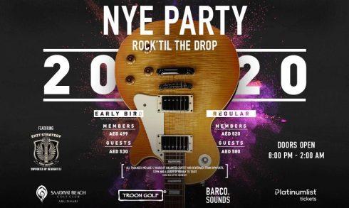 NYE Party – Rock 'Til the Drop - Coming Soon in UAE, comingsoon.ae