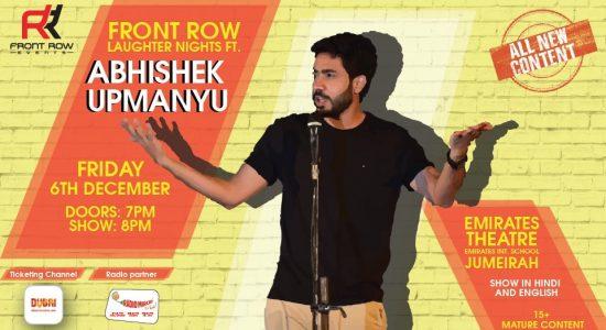 Front Row Laughter Nights ft Abhishek Upmanyu - comingsoon.ae