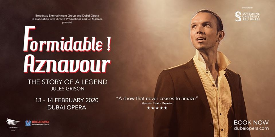 Formidable – Tribute to Charles Aznavour at Dubai Opera - Coming Soon in UAE, comingsoon.ae