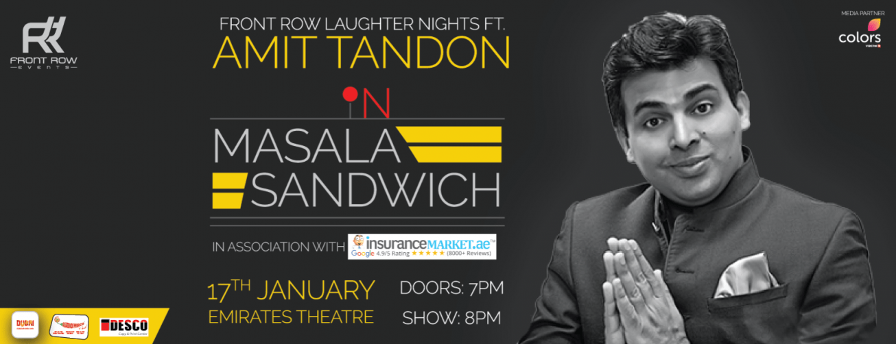 Front Row Laughter Nights ft Amit Tandon - Coming Soon in UAE, comingsoon.ae