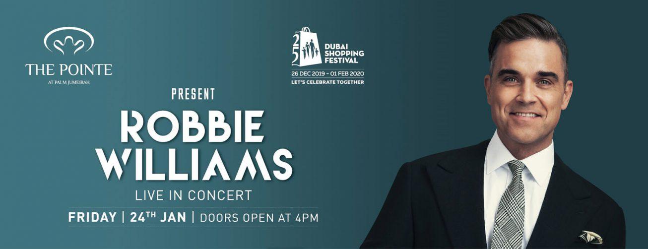 Robbie Williams Live in Dubai 2020 - Coming Soon in UAE
