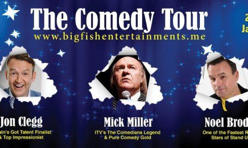 Big Fish Comedy presents Jon Clegg, Mick Miller, Noel Brodie - Coming Soon in UAE, comingsoon.ae