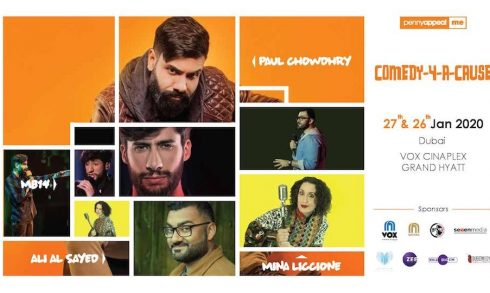 COMEDY-4-A-CAUSE is set by PAUL CHOWDHRY, ALI AL SAYED, MINA LICCIONE & MB14 - Coming Soon in UAE, comingsoon.ae