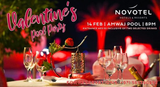 Valentine's Pool Party at Novotel Fujairah - comingsoon.ae
