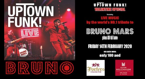 """Valentine's Special – """"Uptown Town Funk"""" by Bruno Mars tribute band - comingsoon.ae"""