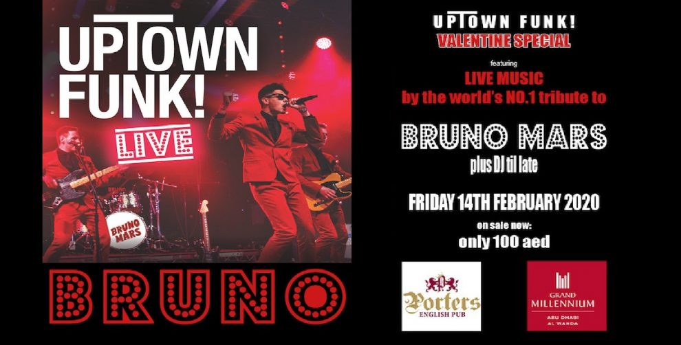 """Valentine's Special – """"Uptown Town Funk"""" by Bruno Mars tribute band - Coming Soon in UAE, comingsoon.ae"""