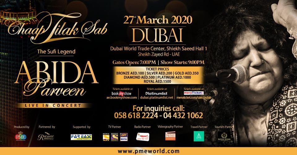Abida Parveen Live in Dubai - Coming Soon in UAE, comingsoon.ae